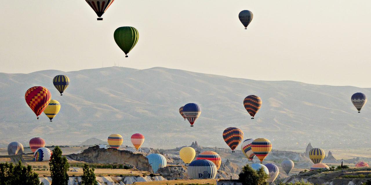 Varmluftsballonger i Cappadocia, Tyrkia