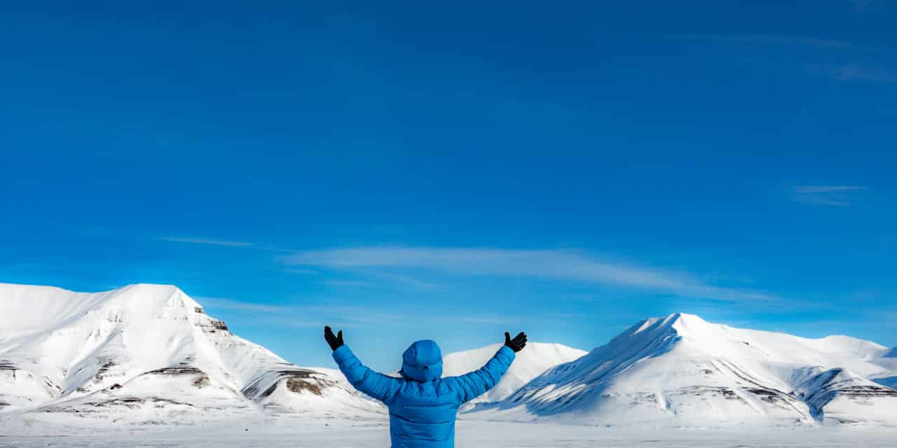Første dag på Svalbard