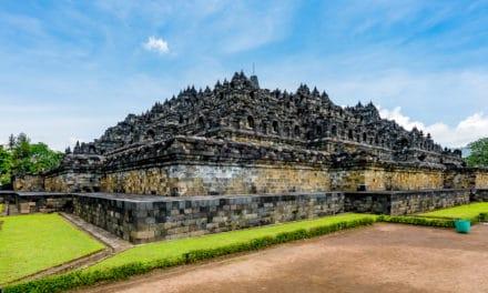 Verdens største buddhistiske monument, Java, Indonesia