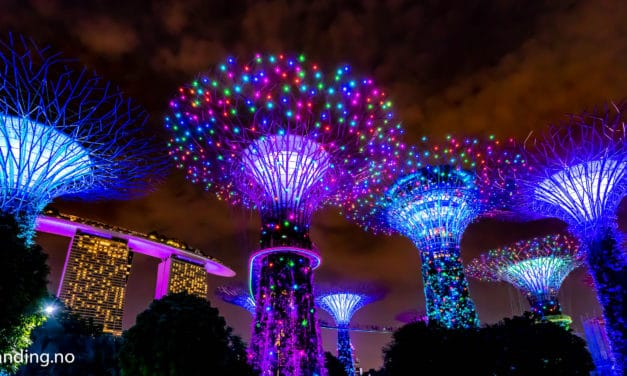 På besøk hos Avatarene i Gardens By the Bay, Singapore !